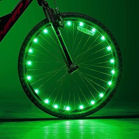 MUDEREK Bicycle Cool Cycling Wheel Spoke Light Night Riding Wheel Bike Lamp Spoke Decorations