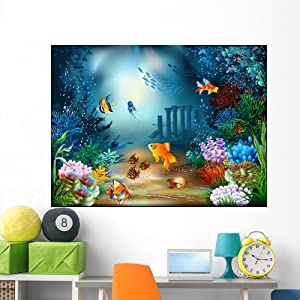 Wallmonkeys Underwater World Wall Decal Peel and Stick Graphic WM62116 (60 in W x 45 in H)