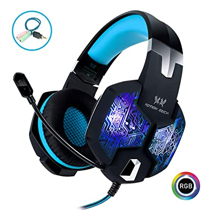 ea2e67096f5 Stereo Gaming Headset with Mic for PC PS4 Xbox One Nintendo  Switch,Lightweight Over Ear