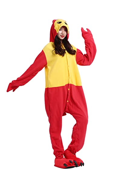 YUWELL Kigurumi Pijamas Adult Animación Anime Cosplay Traje Disfraz Onesie Pyjamas de Halloween, Langosta S