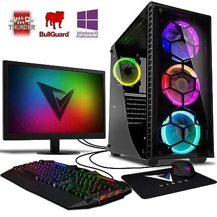 Vibox Apache 9SW Gaming PC Ordenador de sobremesa con 2 Juegos Gratis, Win 10 Pro, 22