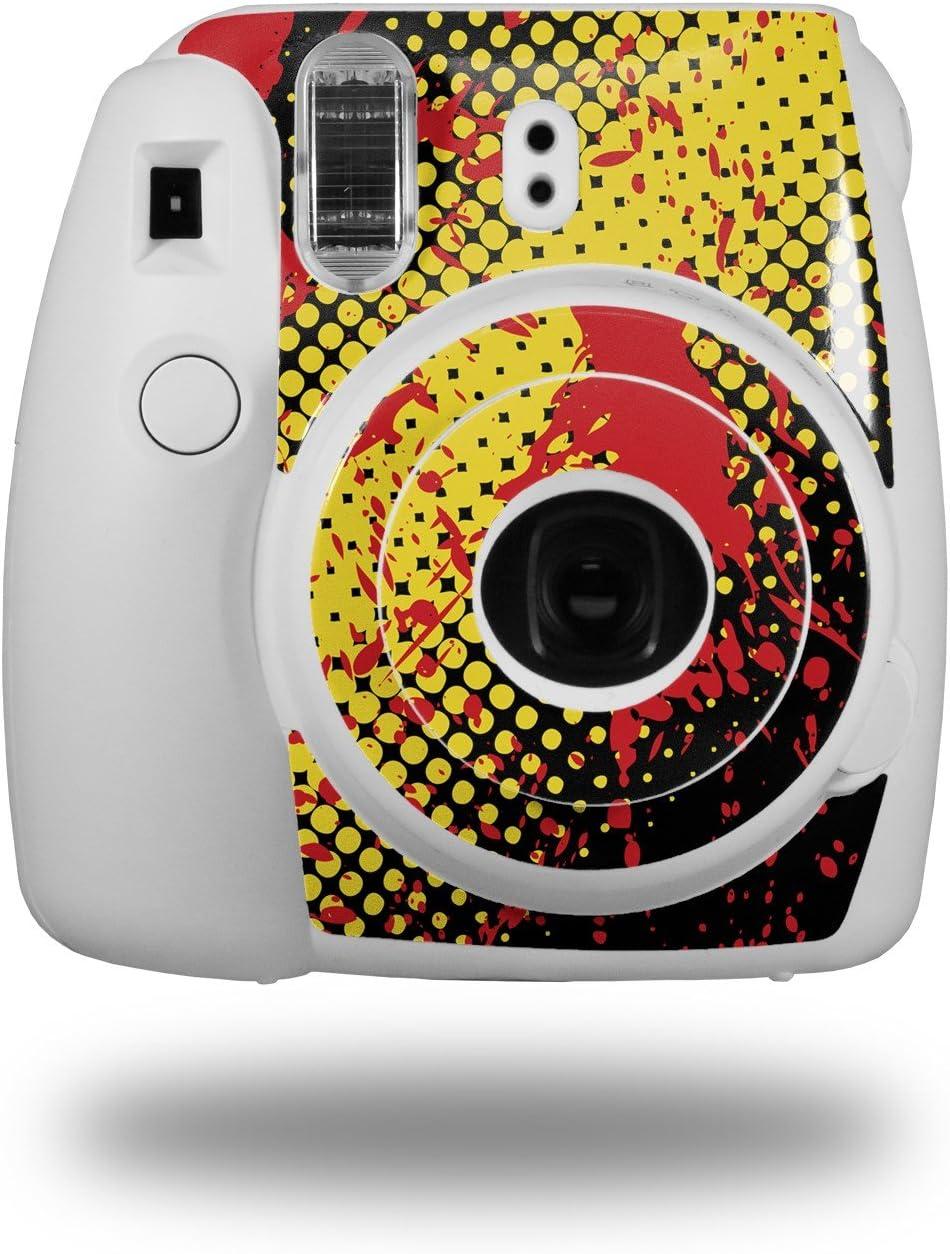 CAMERA NOT INCLUDED WraptorSkinz Skin Decal Wrap for Fujifilm Instax Mini 8 Camera Halftone Splatter Yellow Red