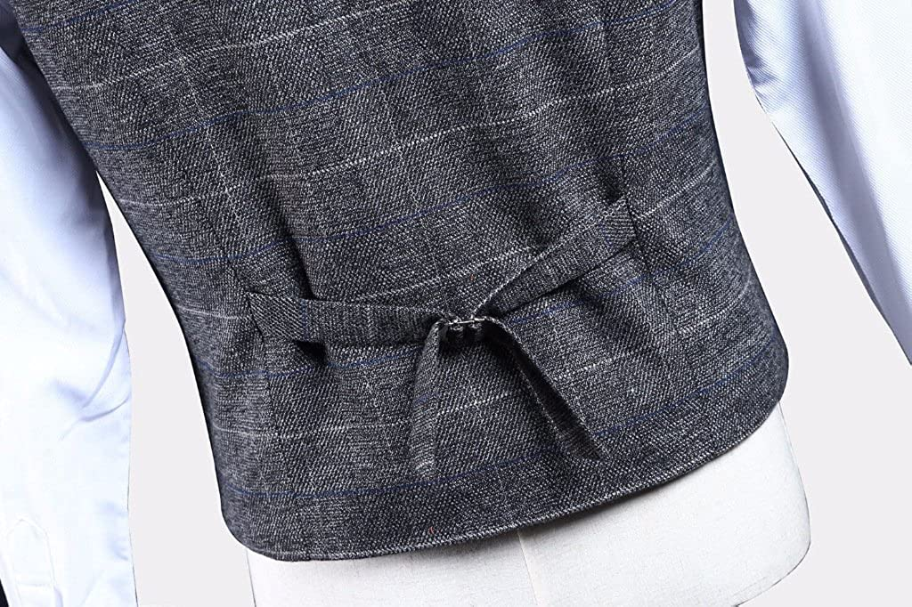 Plaid Gray Tweed Herringbone Men Suit 3 Pieces Two Buttons Single ...