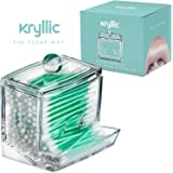 Acrylic Q-Tip cottonswab Storage Dispenser - Designed To Dispense Smoothly Also Great for Cotton balls Bobbypins & all Cosmetic Storgae Made Thick & Strong With the Highest Quality Acrylic Material