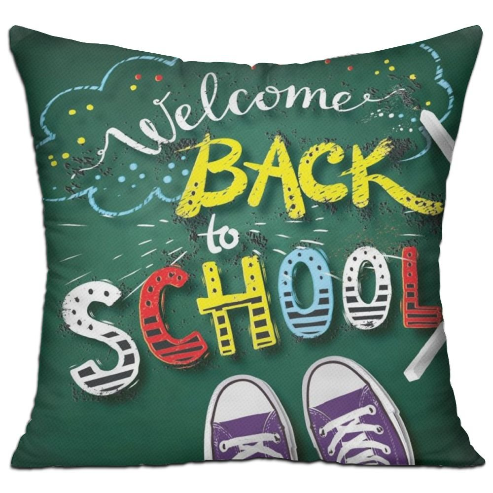 Babala WelcomeBack To School 18x18 Inch Square Pillow Home Decor Insert With Interior Inner