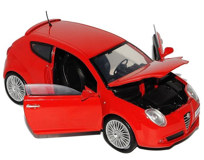 Alfa Romeo Mito Rot 3 Türer Ab 2008 1//24 Motormax Modell Auto mit oder ohne in..