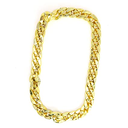148956996 Amazon.com: Skeleteen Rapper Gold Chain Accessory - 90s Hip Hop Fake Gold  Costume Necklace - 1 Piece: Toys & Games