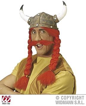 WIDMANN S.R.L. - casco POLLA CON TRENZAS Y bigotes: Amazon ...
