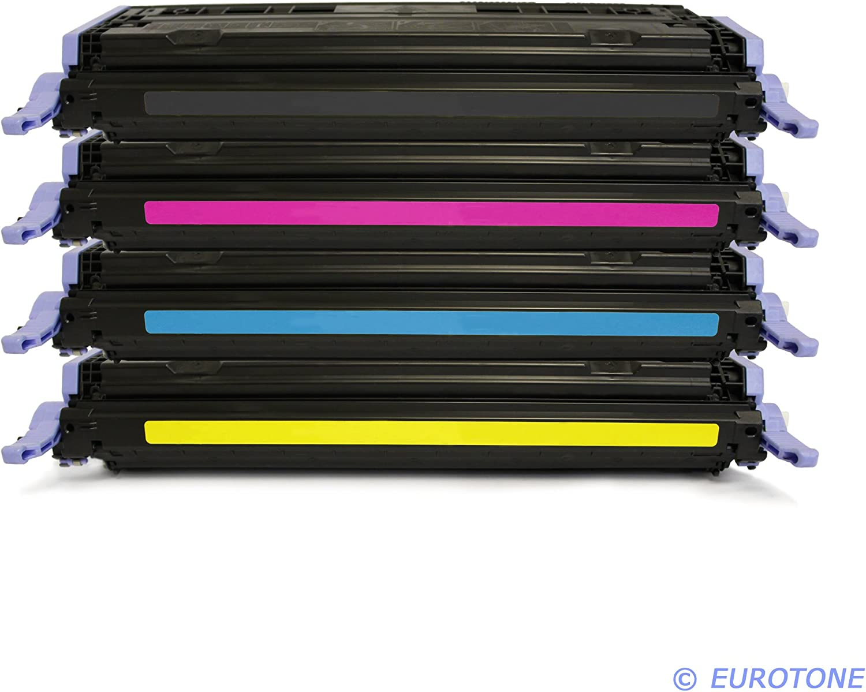 4er Set Eurotone Toner Cartridge Kompatibler Für Hp Color Laserjet 1600 2600 2605 Cm 1015 1017 Kompatibel Ersetzt Hp Q6000a Q6001a Q6002a Q6003a Black Cyan Magenta Yellow Bürobedarf Schreibwaren