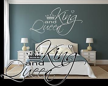 timalo® Wandtattoo fürs Schlafzimmer ~ Schriftzug: Spruch KING and ...