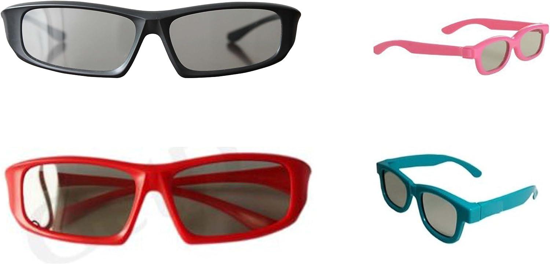 Paquete familiar de 4 pares de pasiva Universal gafas 3D para ...