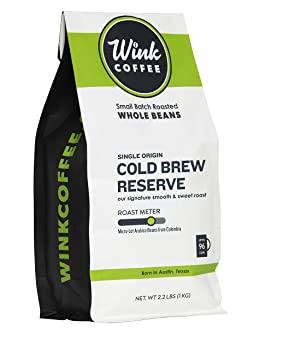 Wink Coffee Cold Brew Reserve Whole Bean Arabica Coffee Beans
