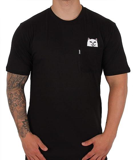 5a405a95ae36 Rip'n'Dip RIPNDIP Lord Nermal Pocket T Shirt - Black: Amazon.co.uk: Clothing