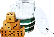 Backyard Recess Yardzee & Yard Farkle Giant Wooden 6 Dice Set for Outdoor Fun Lawn Games Picnic Barbeque Party Tailgaiting &