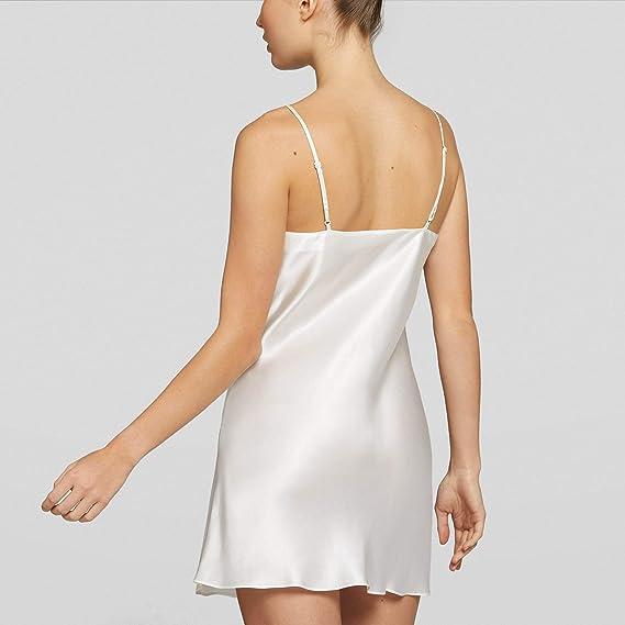 YAMAMAY/® Silk Touch Abito Sottoveste Corta in Seta da Notte o per Intimo