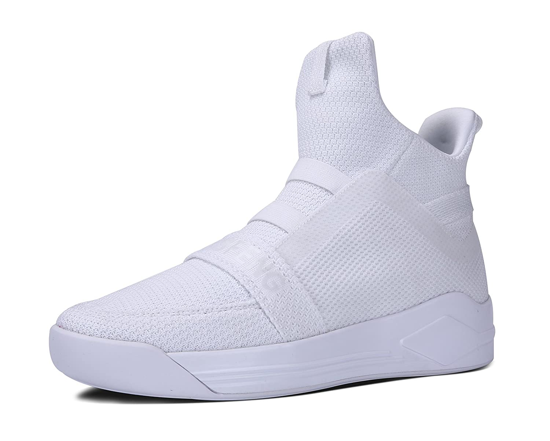 Soulsfeng Men Women Casual High Top Sneaker Breathable Mesh Athletic Shoes B071YC1WFX Women 8 B(M) US|White