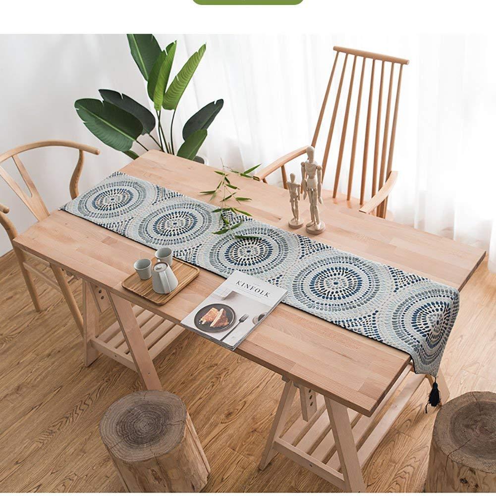 Shuangdeng 中国の禅コーヒーテーブルテーブルランナー北欧国家風装飾テーブルクロス生地靴キャビネットテレビキャビネットカバータオルベッド布張り (Color : D, サイズ : 32*160cm) 32*160cm D B07SDL8BRR