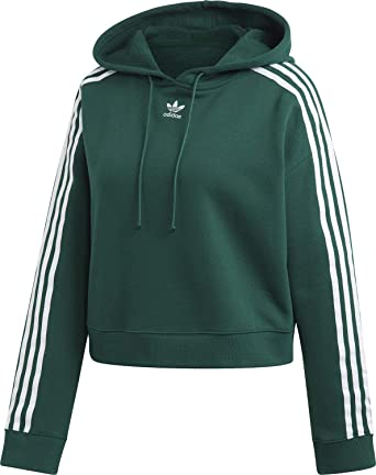adidas Cropped Hoodie Sweat Shirt Femme: