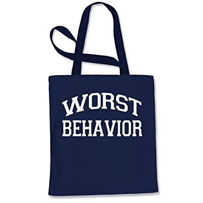 Expression Tees Worst Behavior Shopping Tote Bag