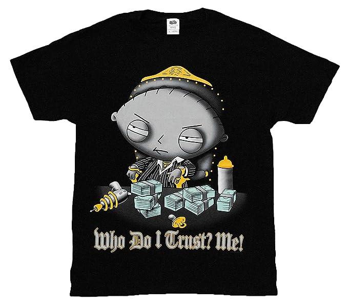 d2ec2833d74f0 Amazon.com: Family Guy - Stewie: Who Do I Trust? Me! Shirt, Small ...