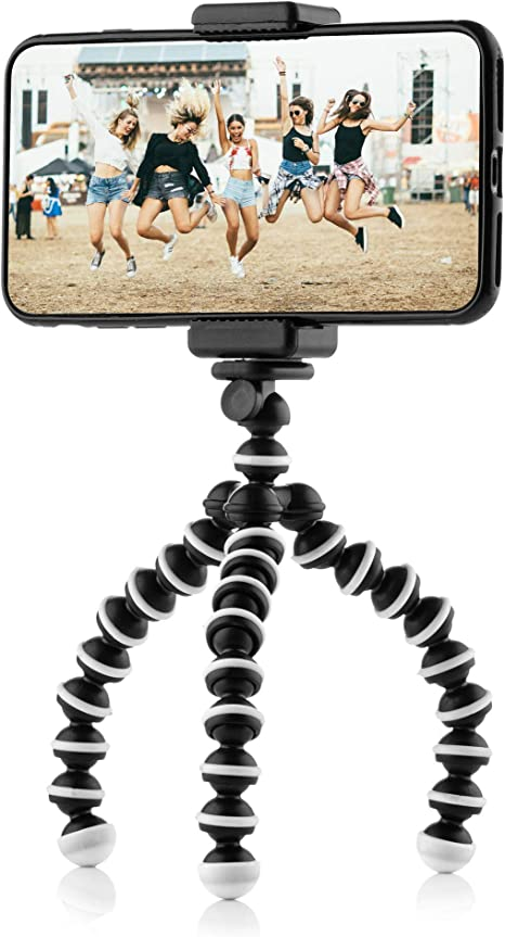 Flexible Mini Travel Tripod Stand with Smartphone Clamp for iPhone, Android Phone and Gopro: Amazon.es: Electrónica