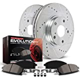 Power Stop K6374 Front Brake Kit with Drilled/Slotted Brake Rotors and Z23 Evolution Ceramic Brake Pads