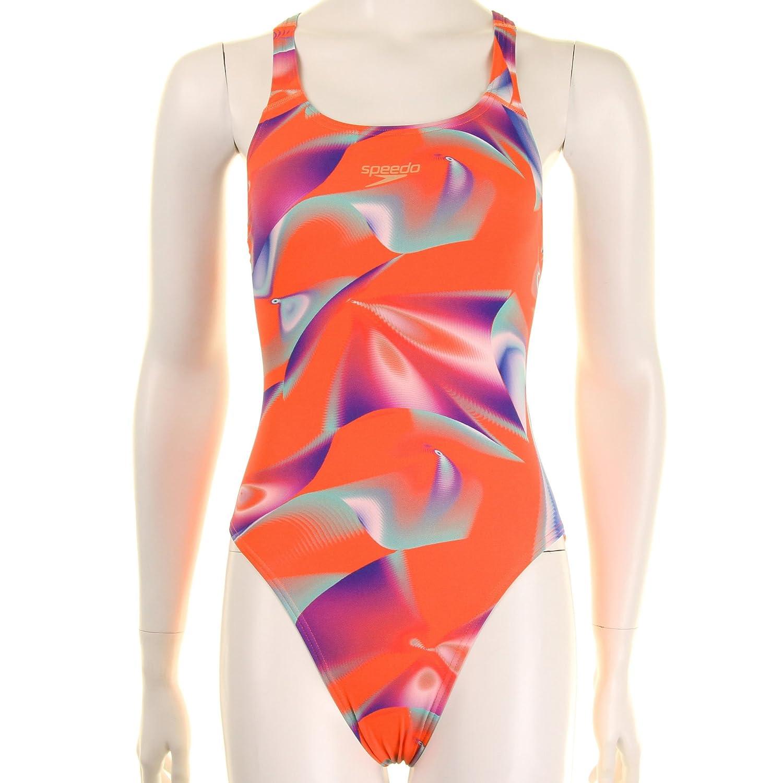 Speedo Damen Badeanzug Allover Digital Leaderback Print 1