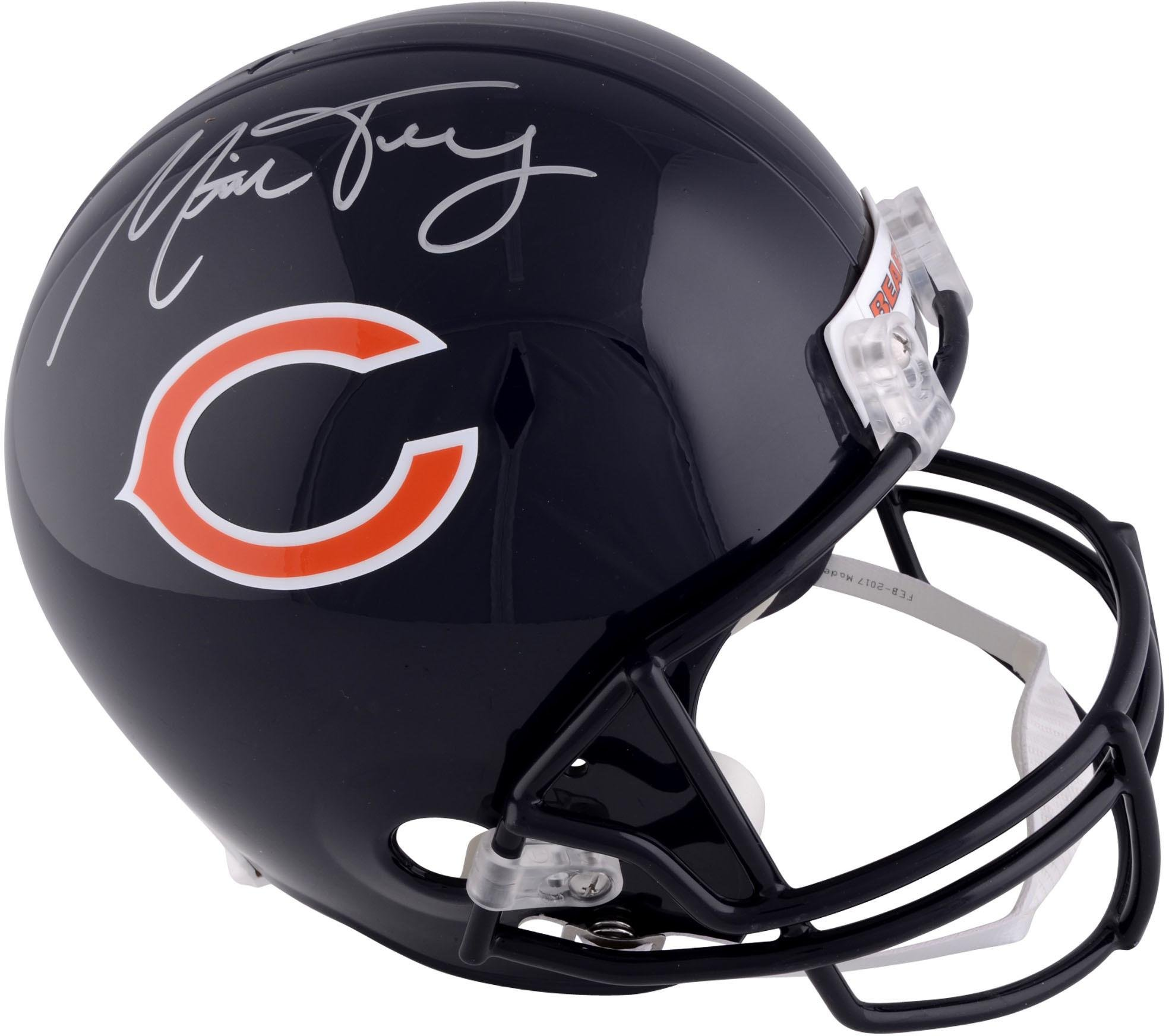 Mitchell Trubisky Chicago Bears Autographed Riddell Replica Helmet Fanatics Authentic Certified Autographed NFL Helmets