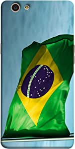 ColorKing Football Brazil 01 Multicolor shell case cover for OPPO F1S