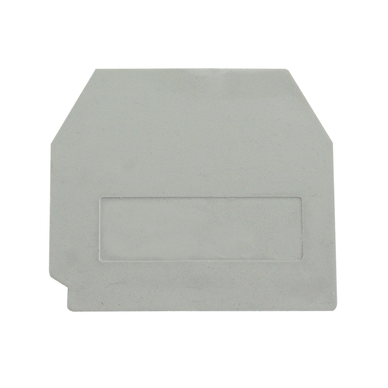 UPUN Pack of 25 ASI ASIDMBK6E End Cover for ASIMBK6E Miniature Screw Clamp Feed Through Terminal Block