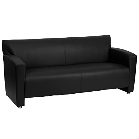 Flash Furniture HERCULES Majesty Series Black Leather Sofa