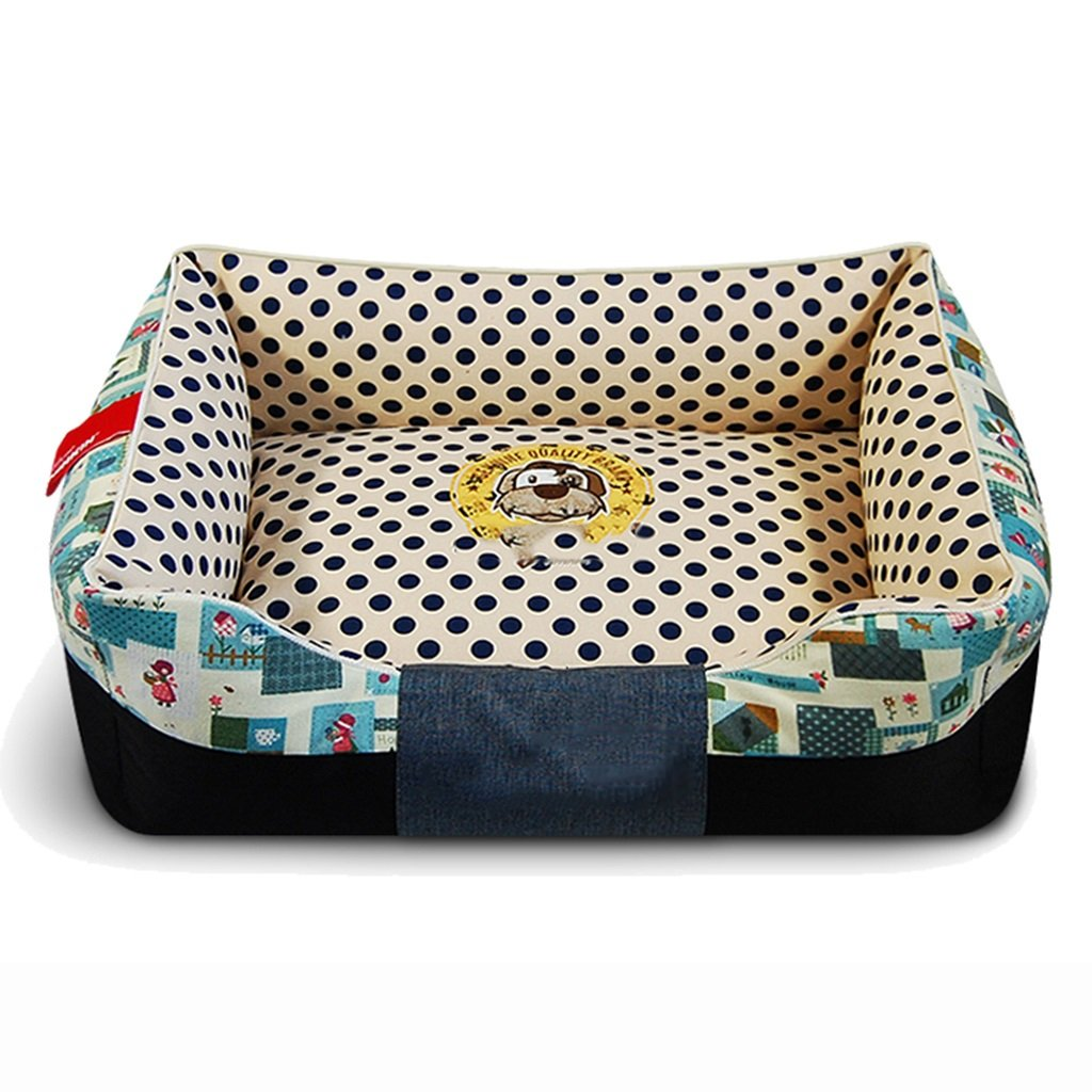 B bluee Small B bluee Small Dogs Beds Furniture Bed Blankets Removable Dogs Beds PET's Cushions Mats Soft Sofas or Chairs (color   B bluee, Size   S)