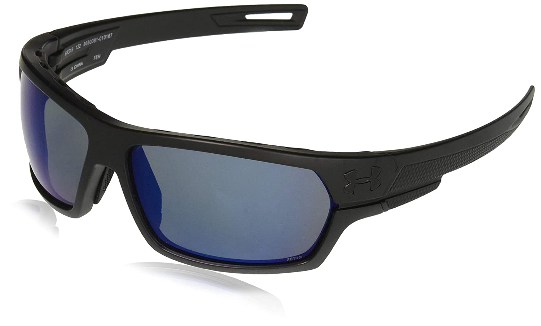 4c8b0c49cb38 Amazon.com  Under Armour Ua Battlewrap Polarized Oval Sunglasses Black 68  mm  Clothing