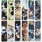 """Livin Harmony    Cute Cool Cat Bookmarks (12 - Set)    Purrfect Gift for Kids, Women, and Everyone!    7""""x2"""" (Cats)"""