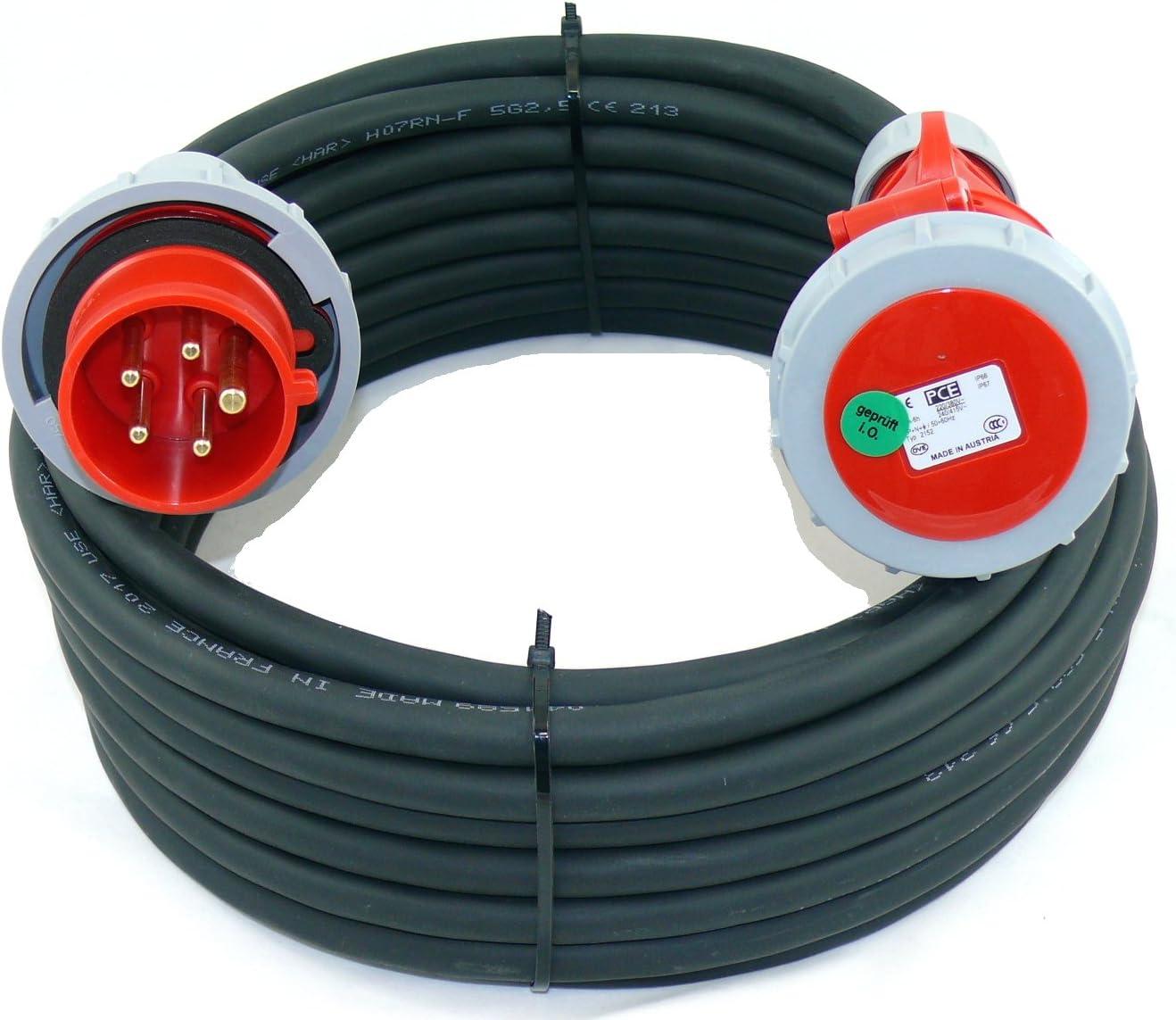 CEE Verl/ängerungskabel wasserdicht H07NR 5G2,5 5x2,5 16A PCE IP67 5m