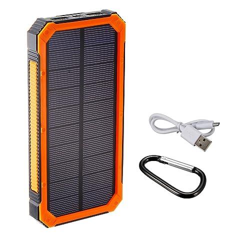 Amazon.com: uxcell Cargador Solar, 1,5 W 10000 mAh Dual USB ...