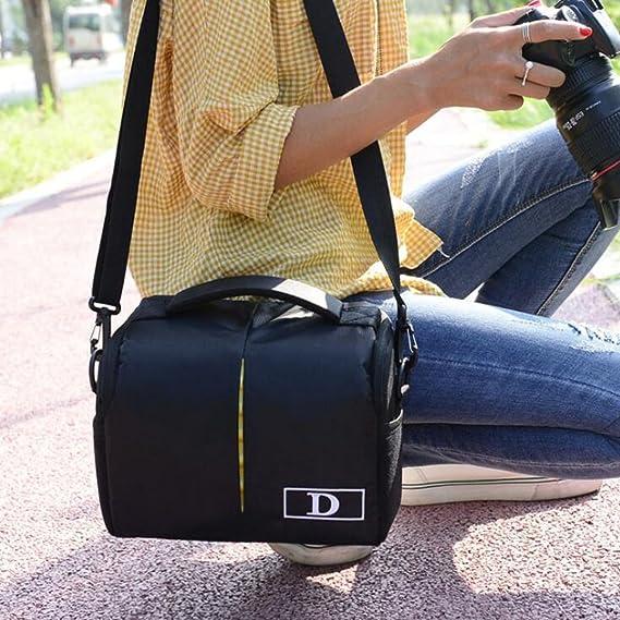SENREAL - Bolsa Bandolera para cámara réflex de Viaje, para Nikon ...