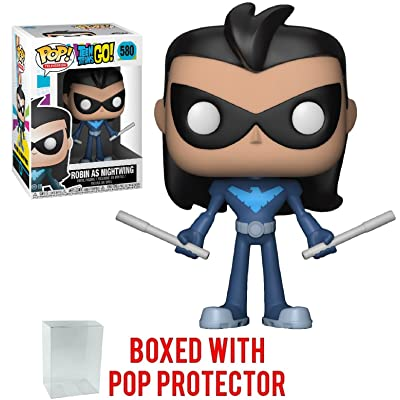 Funko Pop! TV: Teen Titans Go! - Robin As Nightwing Vinyl Figure (Bundled with Pop Box Protector CASE): Toys & Games