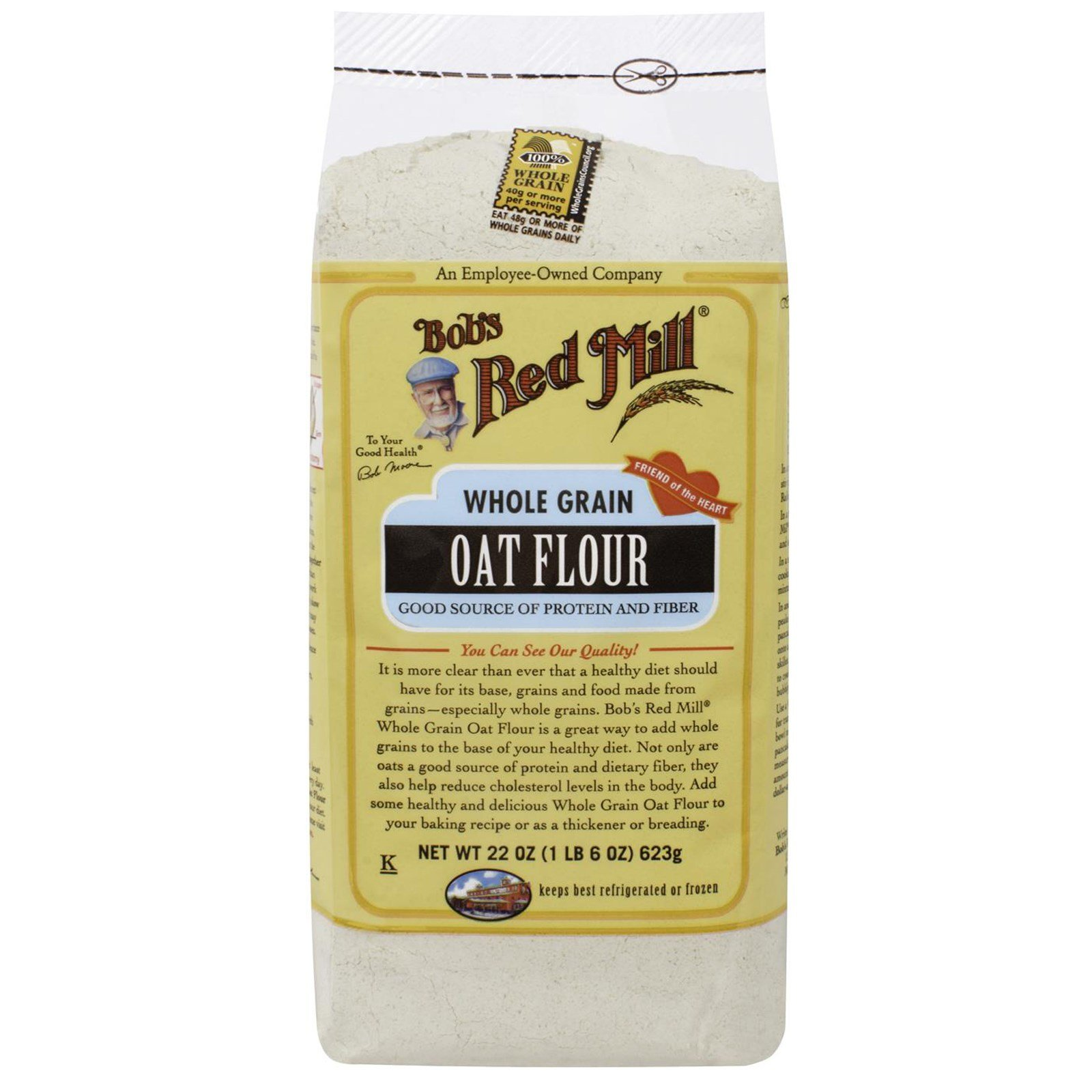 Bob's Red Mill, Whole Grain Oat Flour, 22 oz(Pack of 4)