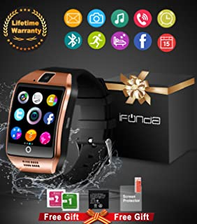 Smart Watch With Camera, Bluetooth Smartwatch Waterproof Cell Phone Watch Smart Wrist Watch With Touch