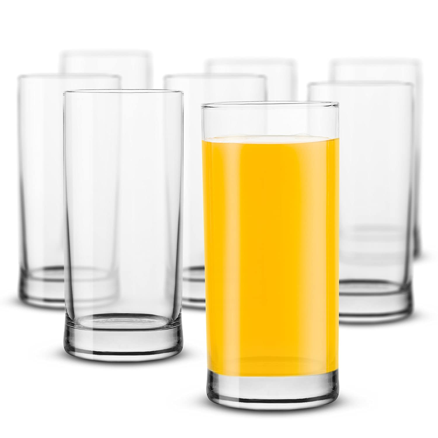 KooK Highball Drinking Glasses 13.oz (8 Pack) fng 9000