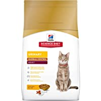 Hill's Science Diet Adult Urinary & Hairball Control Cat Food, Chicken Recipe Dry Cat Food, 15.5 lb Bag