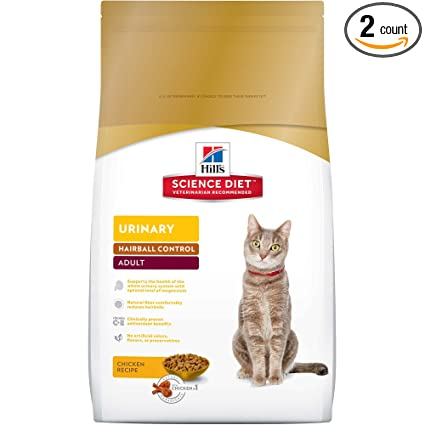 Amazon.com: Hill\'s Science Diet Adult Urinary & Hairball Control Cat ...