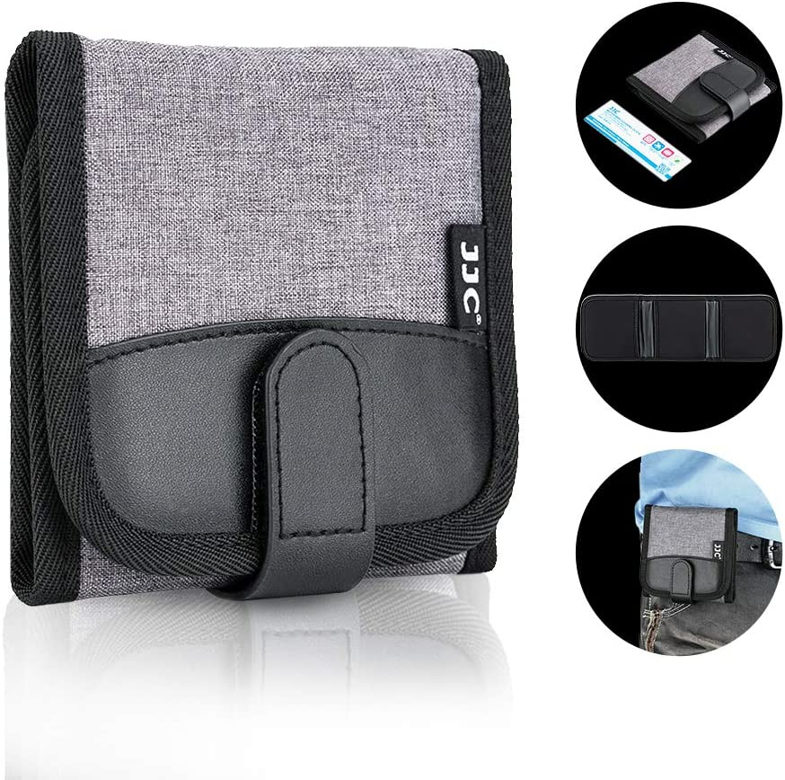 3 Pockets Camera Filter Case for Filter Up to 82mm with Microfiber Cleaning Cloth, Belt Loop Design Compact Lens Filter Pouch Wallet