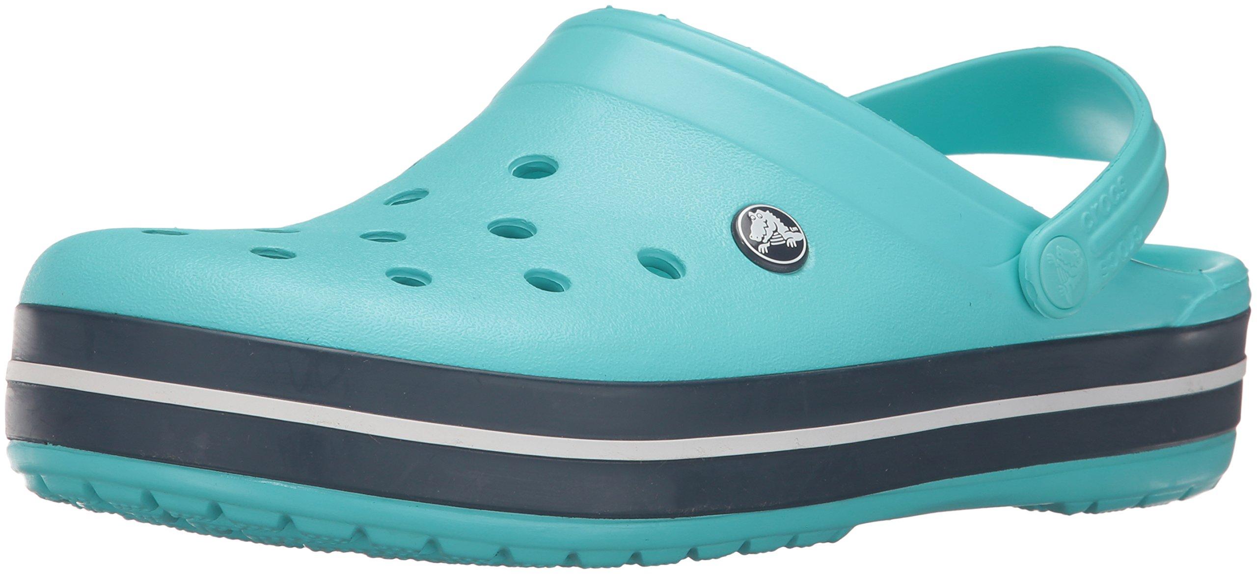 crocs Unisex Crocband Clog, Pool/Navy, 8 US Men / 10 US Women