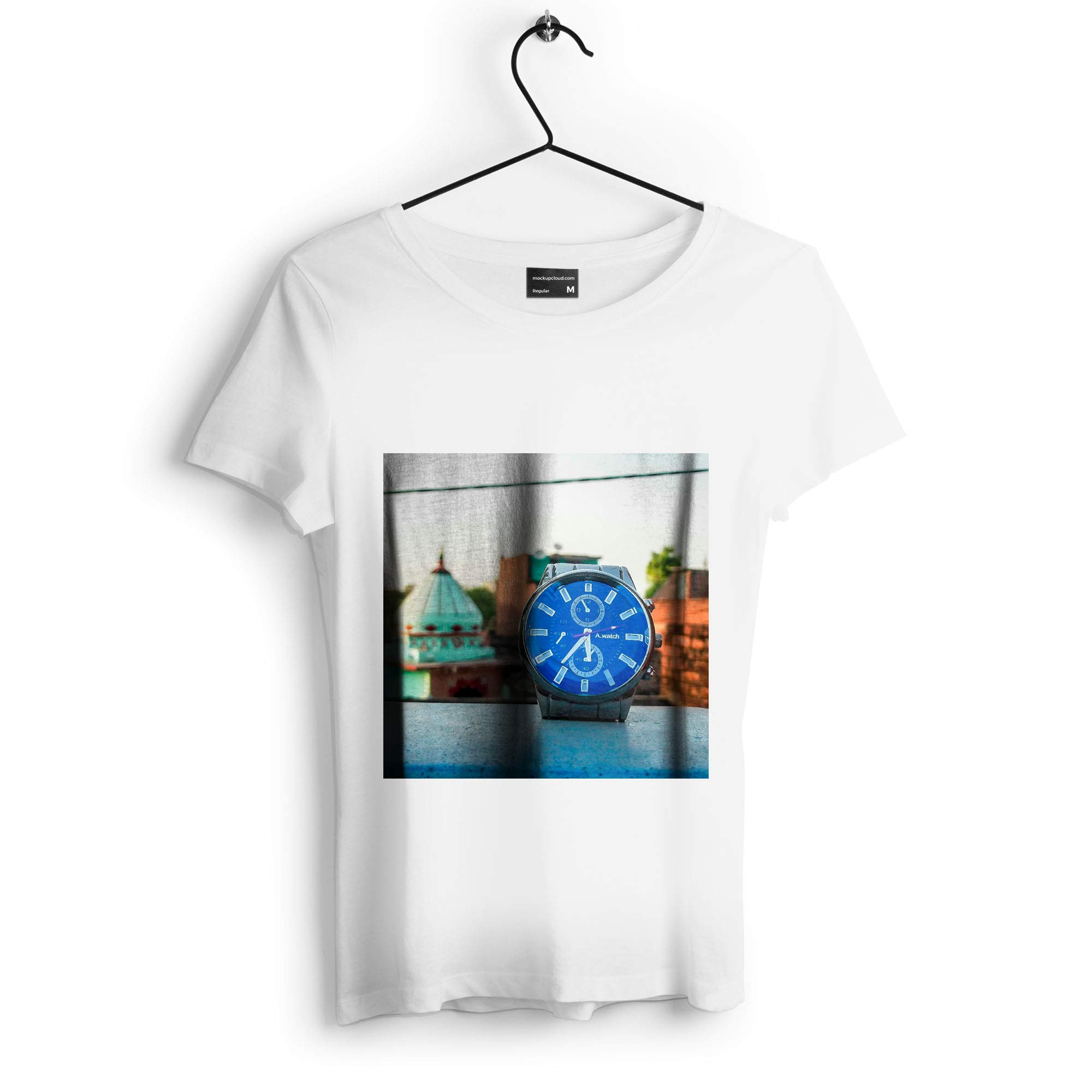 Westlake Art - Watch Analog - Unisex Tshirt - Picture Photography Artwork Shirt - White Adult Medium (D41D8) by Westlake Art
