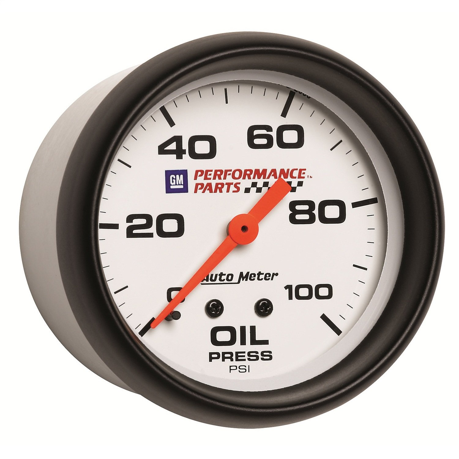 Auto Meter 5821-00407 GM Performance Parts 2-5/8' 0-100 PSI Mechanical Oil Pressure Gauge