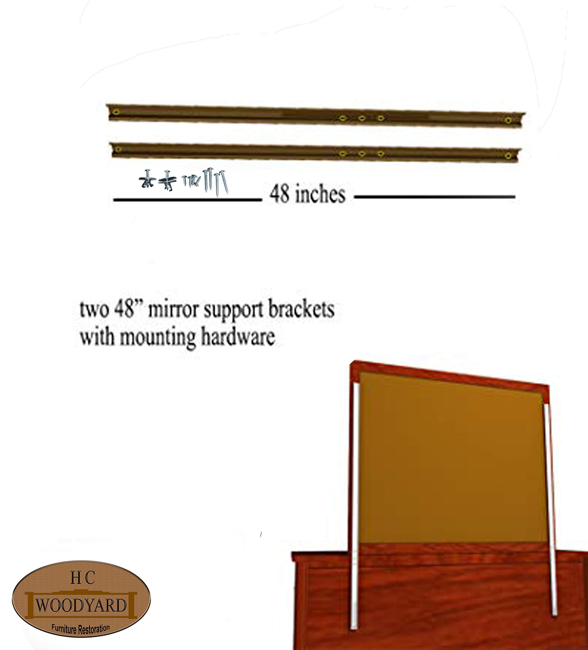 Dresser mirror Brackets by H&C Woodyard Dresser mirror supports
