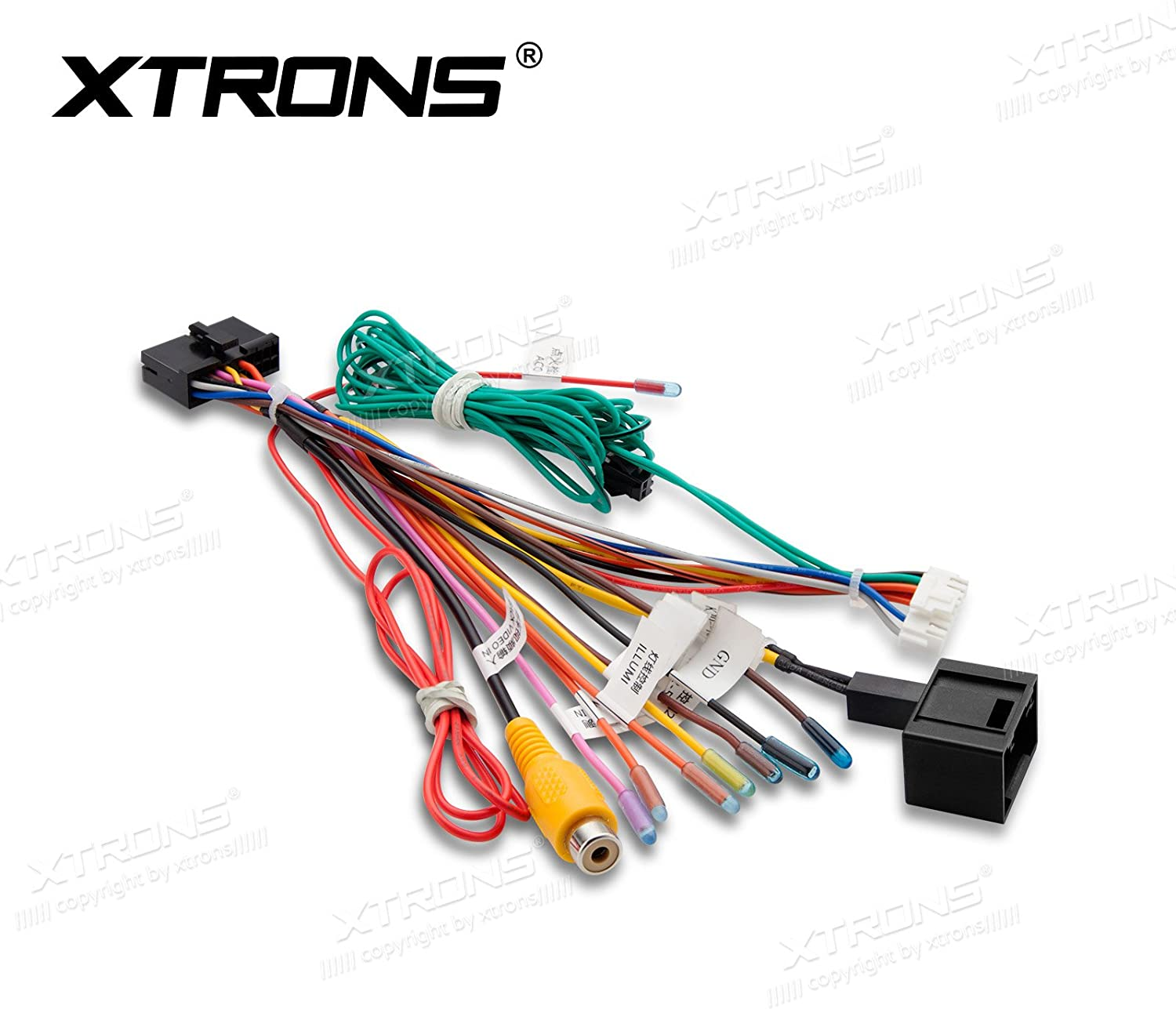 amazon.com: xtrons iso wiring harness adaptor connector cable wire car stereo  radio for xtrons mercedes-benz e/cls: car electronics  amazon.com