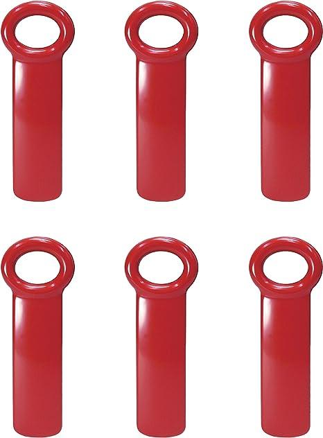 6-Pack Brix JarKey Jar Opener for Vacuum-Seal Jars Assorted Colors